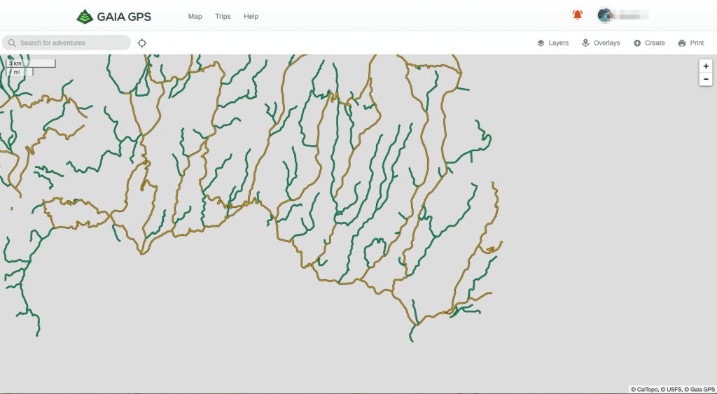MVUM Map Layer Now Available in Gaia GPS Premium - 4X