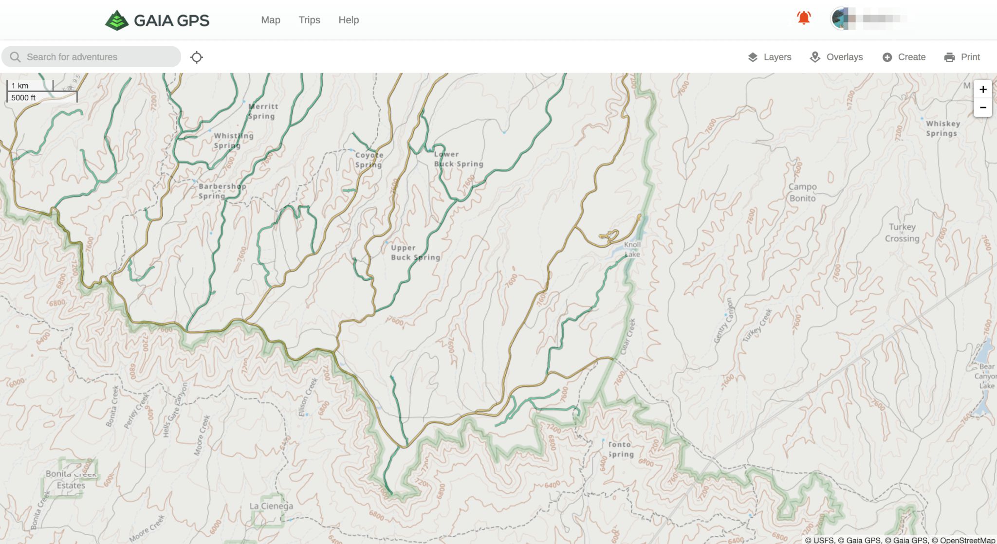 Mvum map layer now available in gaia gps premium 4x overland view larger image gumiabroncs Gallery